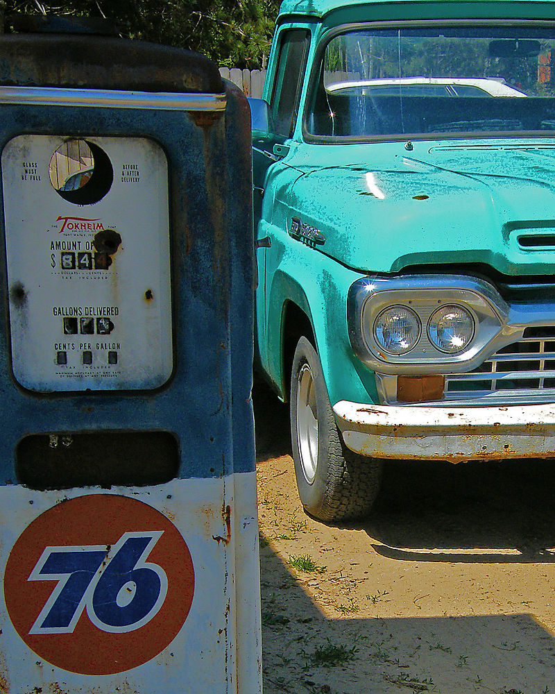 Gas teal truck